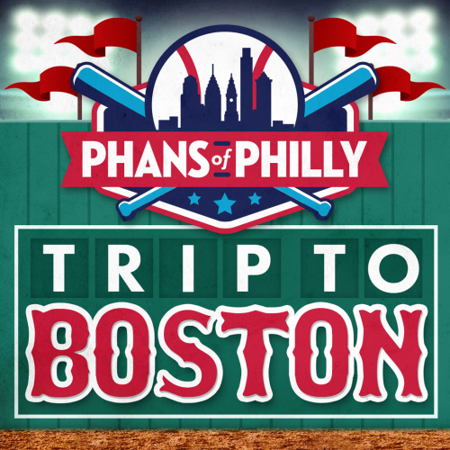 An ad promoting a Phillies bus trip to Fenway Park