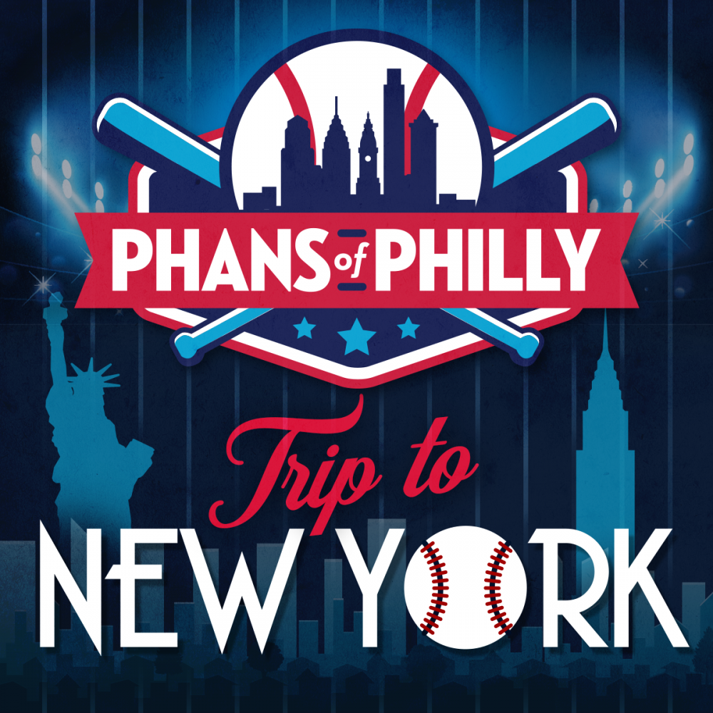 A ad promoting a Phillies bus trip to New York