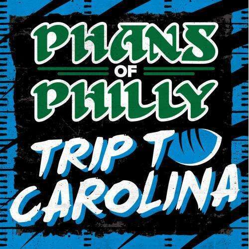 An ad promoting a Philadelphia Eagles road trip to Carolina