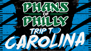 An ad promoting a Philadelphia Eagles travel package to Carolina