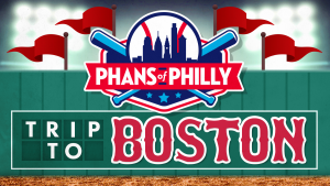 An ad promoting a Phillies Bus Trip to Boston